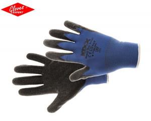 Mănuşi comode din nailon cu strat de latex BEASTY BLUE