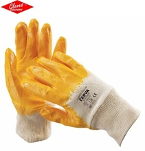 Mănuşi cusute - tricot din bumbac interlock HARRIER YELLOW