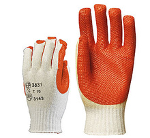 Manusi de protectie vulcanizate cu Latex portocaliu 3831