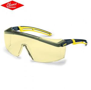 Ochelari UVEX ASTROSPEC 2.0 ramă şi braţe negre/galbene - Comanda minima 5bucati!
