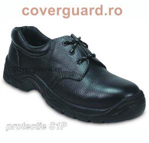 Pantofi de protectie cu bombeu metalica si talpa antiperforatie Agate S1P