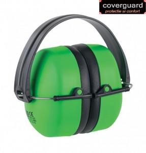 Casca antifon MAX 500 verde fluo,pliabila