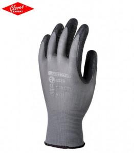 Mănuşi de bază gri  imersie neagră latex microspumoasă pe palmă
