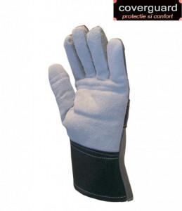 Manusi de protectie din piele spalt bovina, căptușeală din burete pe palmă și degete