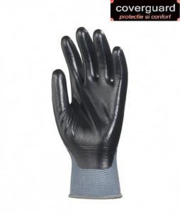 Manusi de protectie pentru mecanici imersate in nitril negru - INDISPONIBIL