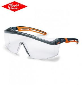 UVEX ASTROSPEC 2.0 braţe negre/portocalii, lentile PC incolore - Comanda minima 5 bucati!