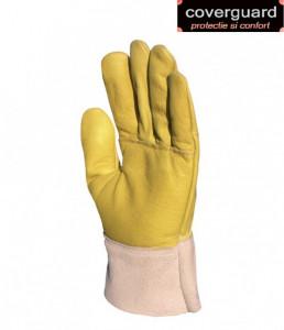 Mănuși de protecție antivibraţi, din piele de bovina