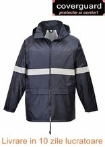 Jacheta de ploaie de vizibilitate inalta cu buzunare mari