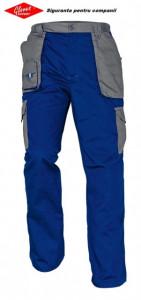 Pantaloni lucru fara bretele tercot albastru-gri