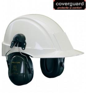 Antifoane externe montabile pe casca de protecţie, cu bandă rabatabilă