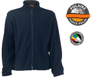 Jacheta Polar Albastru cu fermoar
