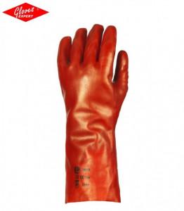 Manusi de protectie imersate in pvc rosu antichimice