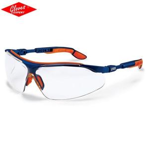 Ochelari de protectie  UVEX I-VO braţe albastre/portocalii, lentile incolore