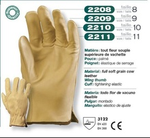 Manusi de protectie din piele Bej 2210