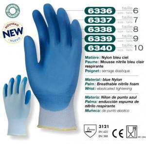 Manusi protectie nitril 6340 albastru