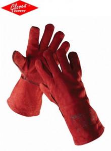 Mănuşi sudor rosii piele şpalt de bovină Sandpiper Red