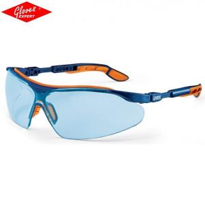 Ochelari de protectie UVEX I-VO braţe albastre/portocalii, lentile albastre deschise