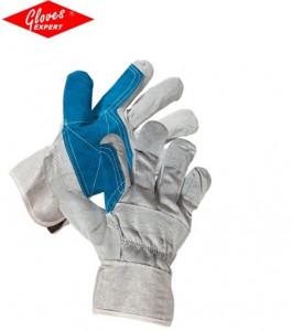 Mănuși combinate – piele șpalt de bovină / textil Magpie Eco HS-01-003