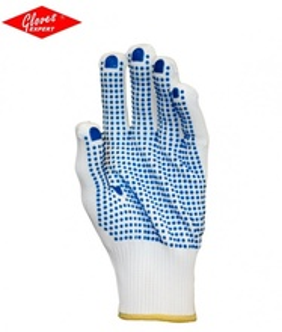 Manusi de protectie cu picouri PVC in palma, rezistente la uzura- INDISPONIBIL