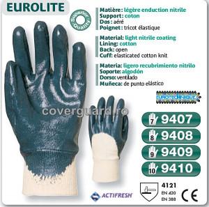 Manusi rezistente nitril Actifresh - bumbac imersat 9407-9408-9409-9410 Pret redus