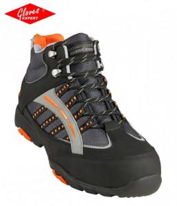 Pantofi de protectie piele nubuck neagră, hidrofobizată HILLITE
