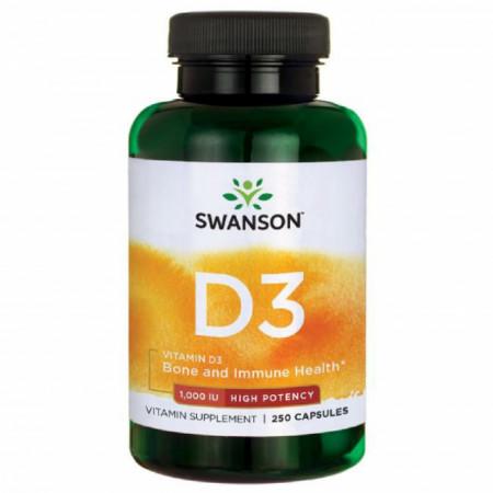 High Potency Vitamin D3- Vitamina D-3 1000 IU 250 capsule Swanson