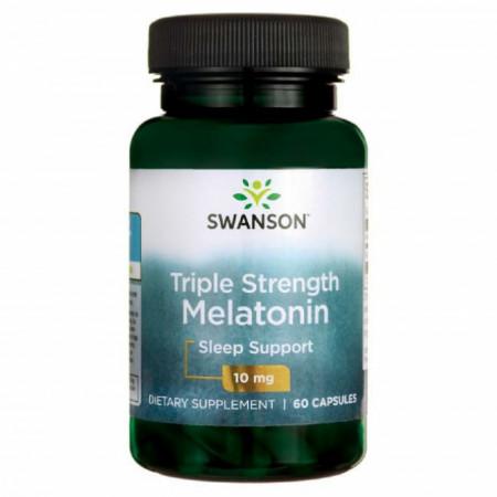 Triple Strenght Melatonina Forte Pura 10 mg 60 Capsule Somn