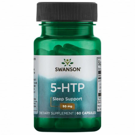 5 HTP 50 mg 60 capsule Serotonina Naturala Swanson 5HTP