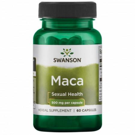 Maca Root Extract- Extract din radacina de Maca 4:1 500mg 60 capsule Swanson