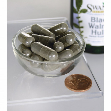 Black Walnut Hulls - Coaja de Nuca Neagra 500 mg 60 capsule Swanson