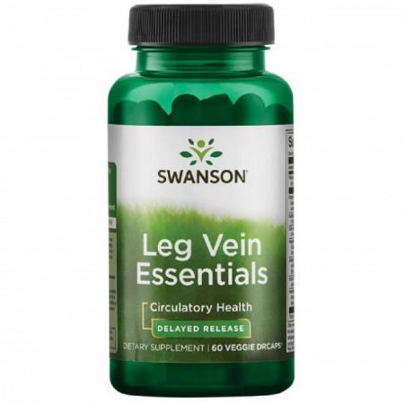 Leg Vein Essentials Delayed Release - Esentiale Pentru Picioare ''Obosite'' 60 capsule DRcaps Swanson