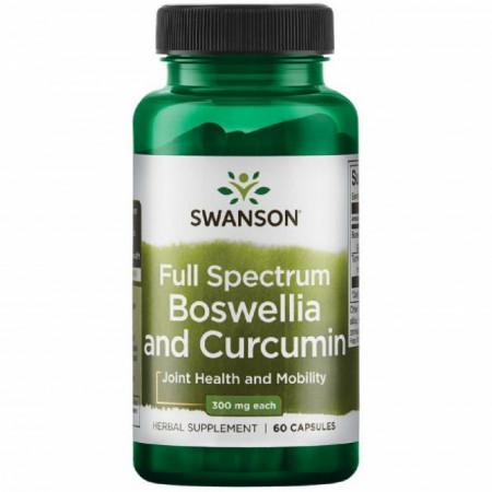 Boswellia & Curcumin - Tamaie & Turmeric 60 capsule Swanson