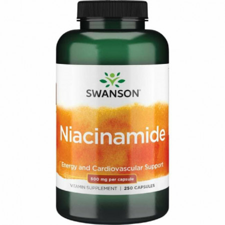 Niacinamida - Nicotinamida - Vitamina B3 500 mg 250 capsule Sistemul Imunitar si Nervos