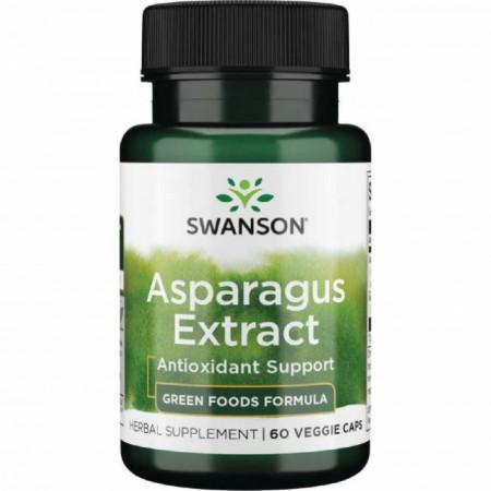 Asparagus Extract Standardizat din Sparanghel cu rol in sustinerea sanatatii sistemelor urinar si digestiv 60 capsule Swanson