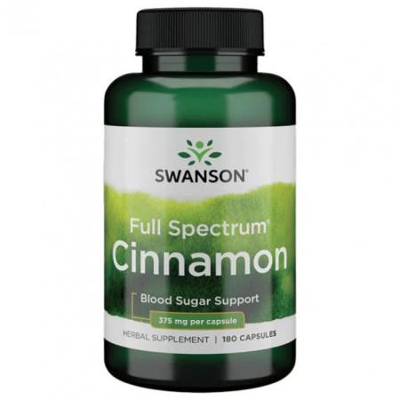 Full Spectrum Cinnamon - Scortisoara cu Beneficii pentru Metabolism 750 mg 180 capsule Swanson