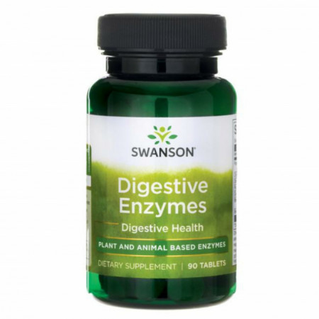 Digestive Enzymes - Enzime Digestive 90 tablete Swanson
