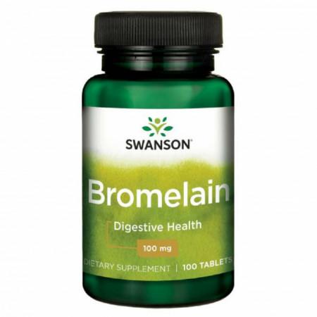Bromelain 240 GDU- Bromelaina 100 mg 100 tablete Swanson