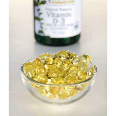 Highest Potency Vitamin D3- Vitamina D3 concentrata 5000 Ui 250 capsule softgels Swanson