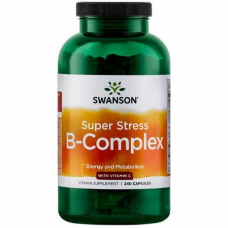 Super Stres Vitamin B- Cmplex With Vitamin C 240 capsule Swanson