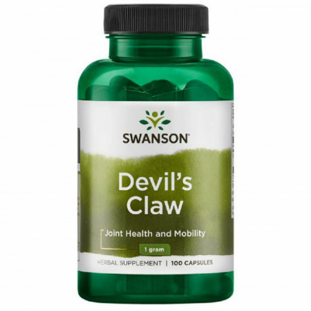 Devil's Claw - Gheara Diavolului Harpagophytum 1 gram 100 cps Articulatii Sanatoase Swanson