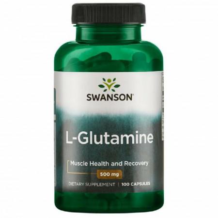 L-Glutamine- L- Glutamina 500 mg 100 capsule Swanson