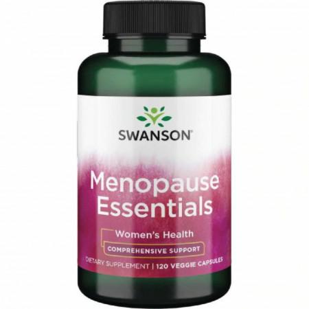 Menopause Essentials - Capsule Esentiale pt Usurarea Simpromelor in Menopauza si Premenopauza 120 capsule Swanson