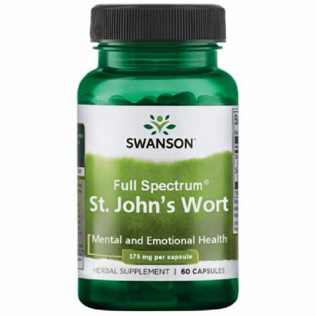 St. John's Wort - Sunatoare- 375 mg 60 capsule Swanson