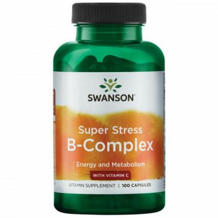 Super Stress Vitamin B-Complex With Vitamin C 100 capsule Swanson