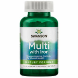 Multi with iron Century Formula Gold 50+ - Multivitamine cu Fier 130 tablete Swanson
