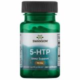 5 HTP 50 mg 60 capsule suport in sinteza serotoninei si mentinerea sanatatii sistemului nervos Swanson