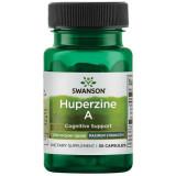 Huperzine A - Huperzina 200 mcg Imbunatateste Radical Memoria, Concentrarea si Sustine Functiile Creierului 30 capsule Swanson