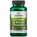 Turmeric& Black Pepper- Turmeric Organic cu Piper negru Organic 60 veggie capsules Swanson