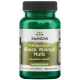 Black Walnut Hulls- Coaja de nuc negru 500 mg 60 capsule Swanson