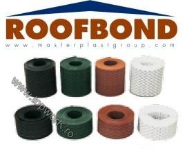 Banda de aerisire perforata pentru acoperis - ROOFBOND 10cm x 5m - alb